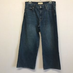 Gap 1969 Wide Leg High Rise Trouser Jeans Crop 29